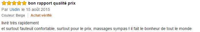 Avis Fauteuil de massage Miadomodo 2